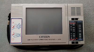 Vtg Vintage Citizen LCD Television FM Stereo Receiver 08TA Parts Repair As Is