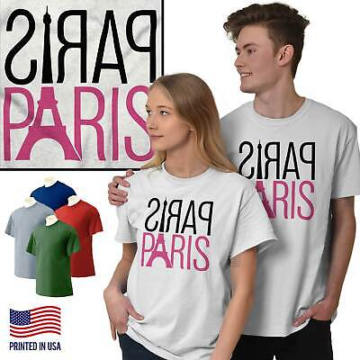 Paris City of Love Romantic Couple France T-Shirts T Shirts Tees For Womens