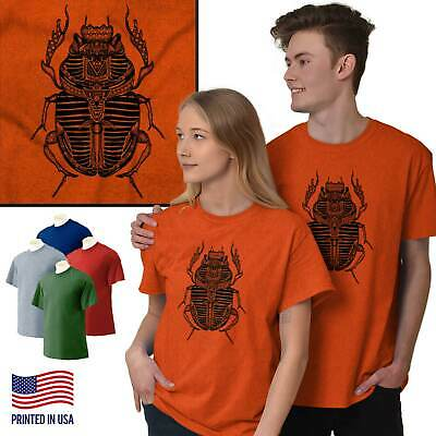 Ancient Egyptian Holy Scarab Beetle Spiritual Short Sleeve T-Shirt Tees Tshirts