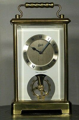 Schatz Carriage Clock. Jewelled Balance Wheel.good Working Order, Fully Serviced