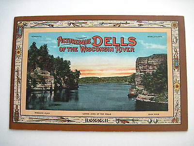 """Beautiful Colored Vintage Travel Booklet of """"Dells of Wisconsin River"""" *"""