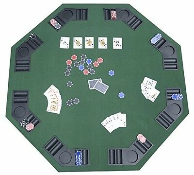 Homcom 1.2m/48 Inches Foldable Poker Table Top 8 Players Blackjack Tables Chip