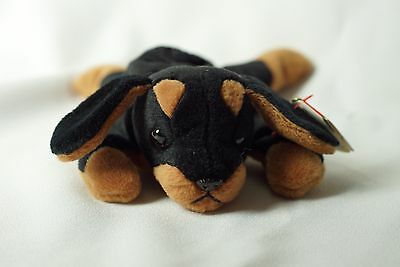 Ty Beanie Baby Doby 1993 Dog w/ Tag ERRORS Plush Toy RARE PVC NEW RETIRED