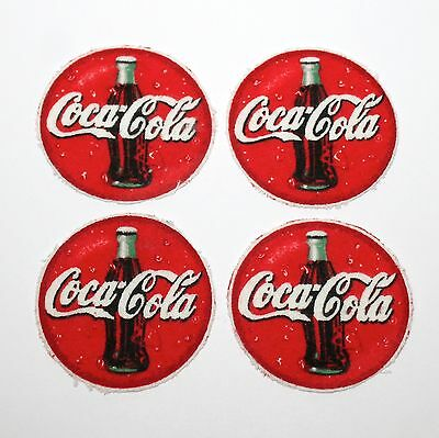 lot of 4 Vintage COCA COLA patch round cloth uniform