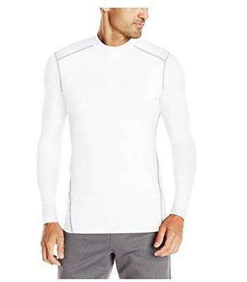 Under Armour Men's ColdGear Compression Long Sleeve Mock Shirt White Select Size