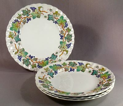 "Spode Monticello Vine Set of Four 7 3/4"" Salad Plates Exc Condition"