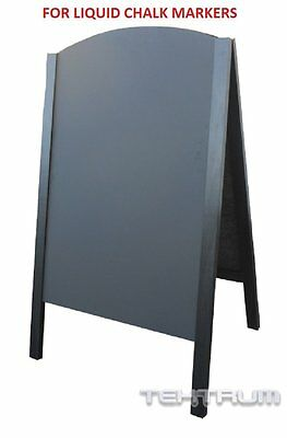 "TEKTRUM LARGE DOUBLE-SIDE SIDEWALK A-FRAME WOOD SANDWICH SIGN BOARD 24.25"" x 42"""
