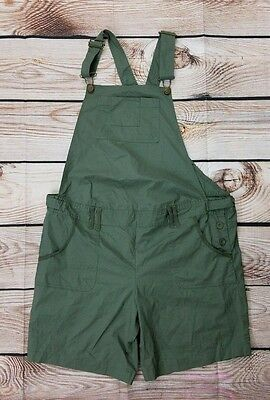 Announcements Maternity Large Green Short Overall Romper