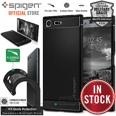 Xperia XZ Premium Case, Genuine SPIGEN Rugged Armor Resilient Cover for Sony