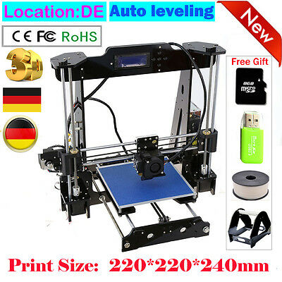 Luxury Auto leveling BIG 3D Printer Kit DIY LCD High Precision 220*220*240mm NEW