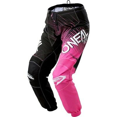 NEW Oneal 2018 Kids MX Gear Element Black Pink Cheap Youth Girls Motocross Pants