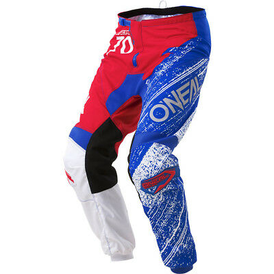 NEW Oneal 2018 Youth Mx Gear Element Burnout Red Blue Cheap Kids Motocross Pants