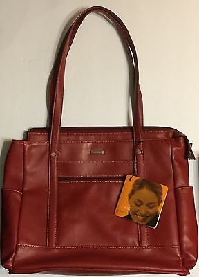 Franklin Covey Business Faux Leather Tote Laptop Bag