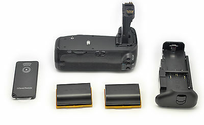 2x LP-E6 + Grip BG-E14 Batterie Multi Power pour Canon EOS 70D 80D DSLR
