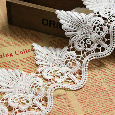 Embroidered Lace Trim Scalloped Edge Wedding Dress Ribbon Applique Sewing Craft