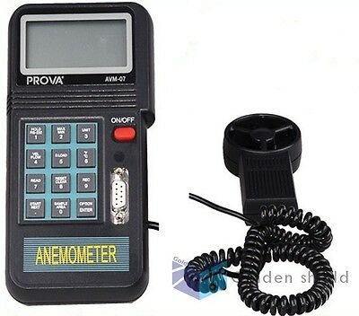 Prova AVM-07 Flow Anemometer memory type  with RS232 line and  software CD