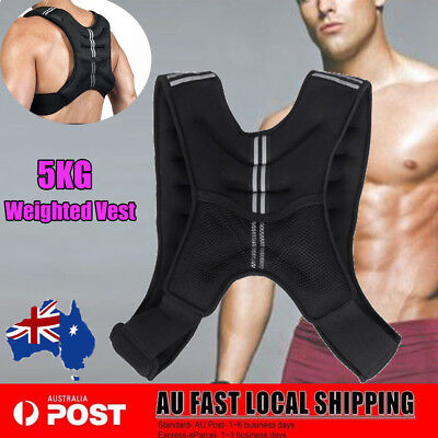 5kg Weighted Vest Adjustable Weight Vests Gym Crossfit Training Sports Exercise