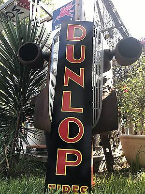 "Antique Vintage Old Style Dunlop Tires Sign 48""!"