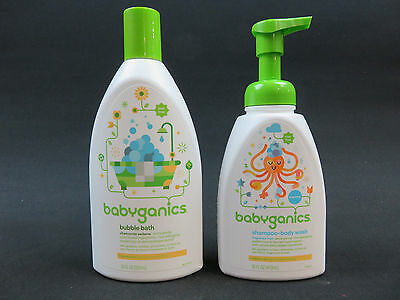 babyganics shampoo+body wash fragrance free 16 fl oz bubble bath chamomile 20 oz
