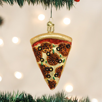 Old World Christmas Pizza Slice Glass Christmas Ornament 32047