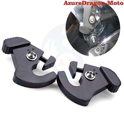 For Harley Aluminum Detachable Rotary Sissy Bar Luggage Rack Docking Latch Clips