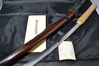 Japanese Samurai sword Katana authentic sharp steel blade Koshirae by Motoyuki