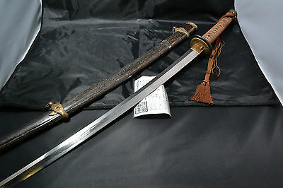 Japanese Samurai real sword Katana sharp steel blade with gunto koshirae Amahide