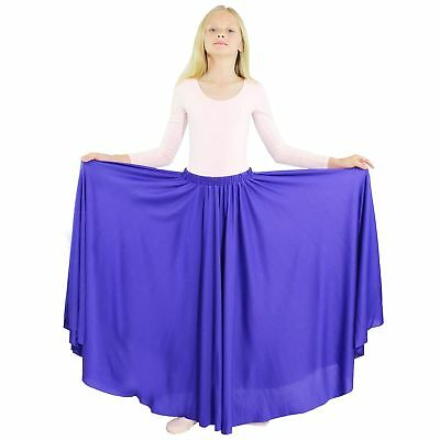 Danzcue Girls Long Full Circle Dance Skirt