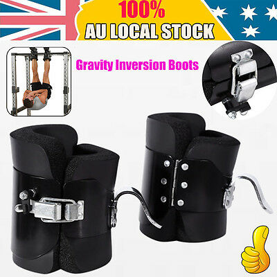 Gravity Inversion Boots Therapy Crossfit Hang Spine Posture GYM Fitness Exercise