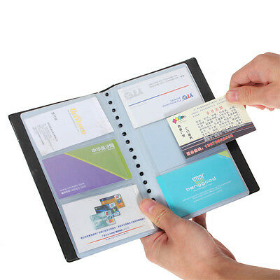 120 Cards Leather Business Name Credit Card Holder Book Keeper Organizer