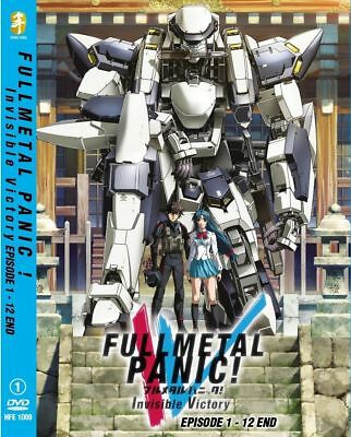 DVD Fullmetal Panic ! Invisible Victory Episode 1-12 End English Subtitle Anime