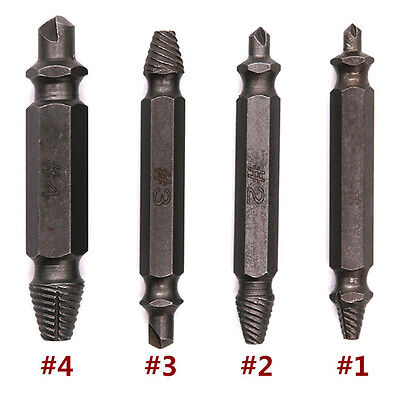 Extractor Set of 4 Stripped Screw Removers Screwdrive Broken Screwdriver Removal