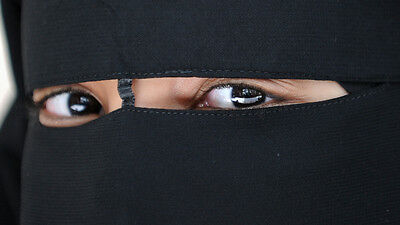 Double Layer  Niqab Burqa muslim face cover / Veil Made of good quality chiffon