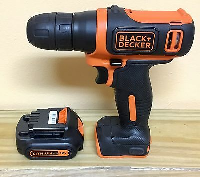 *NEW* Black and Decker 12V Li-ion Drill Driver w/ Battery