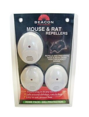 Rentokil Beacon FM86 Rodent Mouse and Rat Repellent in Single & Triple Pack