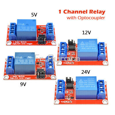 DC 5V/9V/12V/24V 1 Channel Optocoupler Relay Module Support High and Low trigger