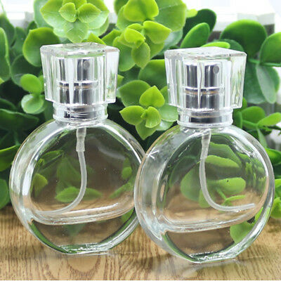 20ml Empty Glass Perfume Spray Bottle Round Atomizer Refillable Travel Container