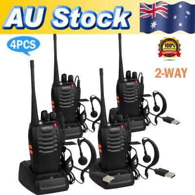 4x Portable Walkie Talkie UHF 400-470MHz 16CH BF-888S Two-Way Radio 5 kilometers