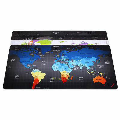 For Laptop PC  90×40CM Large Anti-Slip World Map Speed Game Mousepad Desk Mat