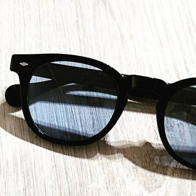 Pif wear Depp - Occhiali da sole nero acetato ovali lenti color sunglasses 010/