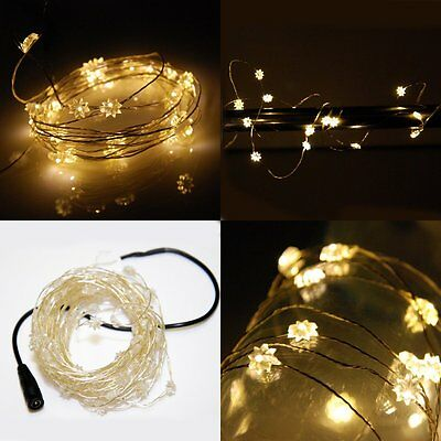 10M 100 LED Fairy String Light Lamp Star Guirlande Lumineuse Xmas Warm White