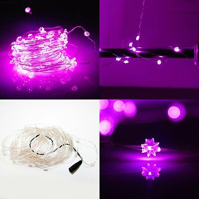 10M 100 LED String Light Lamp Star Guirlande Décoration Lumineuse Xmas Rose
