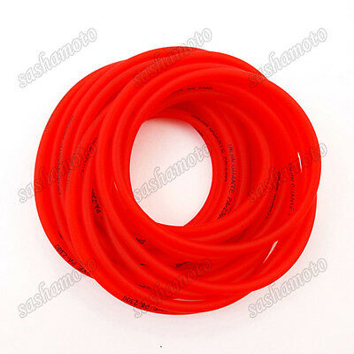 Red Gas Fuel Hose Pipe Tube For Pit Dirt Motor Bike ATV Quad Motorcycle Go Kart