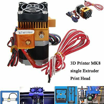2017 Latest MK8 Extruder Nozzle 1.75mm 0.4 3D Printer Head for Makerbot US
