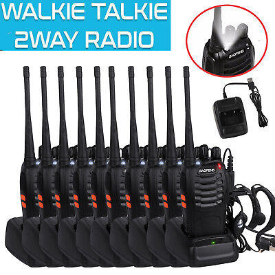 10X BaoFeng BF-888S Walkie Talkie UHF 400-470MHZ 2-Way Ham Radio 16CH Long Range