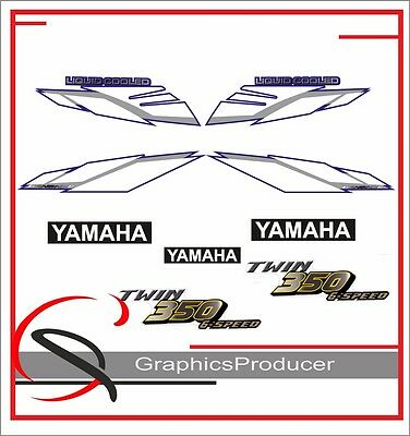 Yamaha Banshee Decals 2002 Blue Model Stickers Full Set Graphics For OEM Fenders