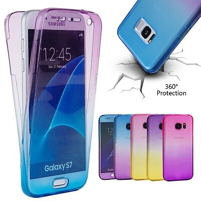 Shockproof 360° Silicone Clear Full Body Case Cover For Samsung Galaxy S8 Plus