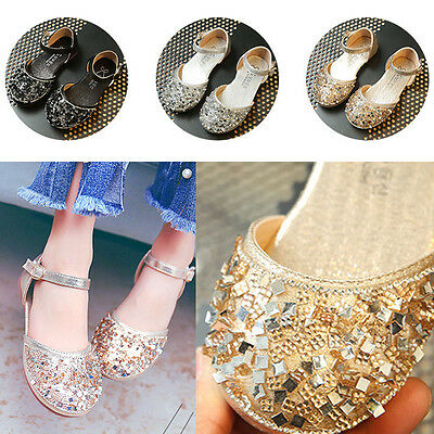 Princess Baby Girls Crystal Shoes for Party,Dress Bling Bling Kids Flat Sandals