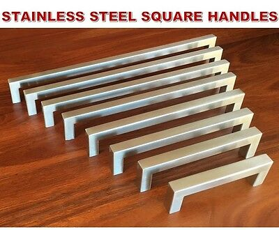 Stainless Steel Kitchen Cabinet Door Drawer Handles Handle Square 12mm Pulls