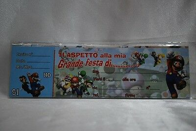 Inviti Super Mario Bros 20pz
